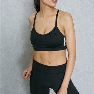 Adidas Climacool Strappy 3 Stripe Sports Bra